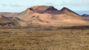 Volcà al Parc Nacional de Timanfaya (Illes Canàries)